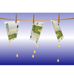 money on a rope vector image vector image