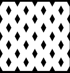 Seamless rhombs geometric black and white pattern vector