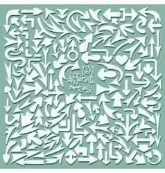 Set 131 different arrows Design elements vector image