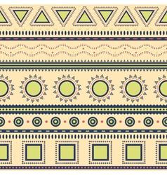 Tribal aztec seamless pattern vector image