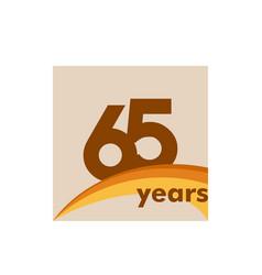 65 years anniversary celebration template design vector
