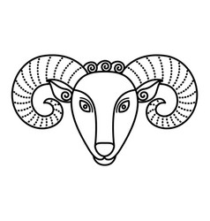 aries sign symbol ram or mutton with horns vector image