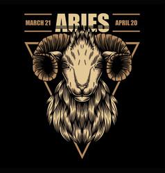 Aries zodiac vector