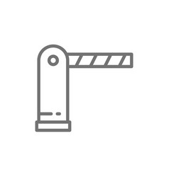 Automatic parking barrier line icon isolated on vector