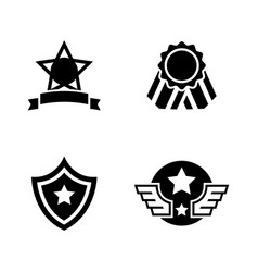 awards simple related icons vector image