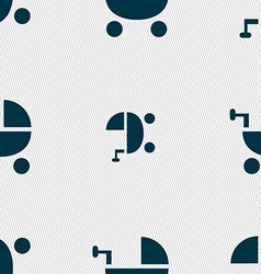 Baby Stroller icon sign Seamless pattern with vector image