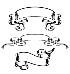 banner black-and-white ribbon decor decoration vector image