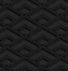 Black textured plastic diamonds in row vector