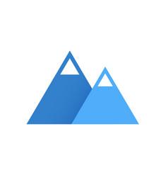 blue mountains flat logo icon vector image