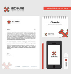 bones business letterhead calendar 2019 and vector image