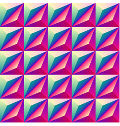 bright colorful geometric rhombus seamless vector image