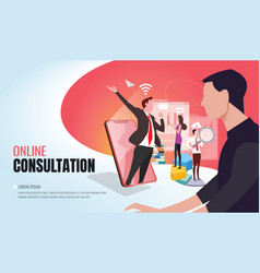 Business consultation ver2 vector
