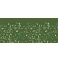 Camping horizontal seamless pattern background vector image