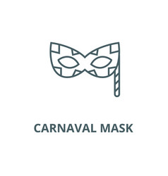 carnaval mask line icon carnaval mask vector image