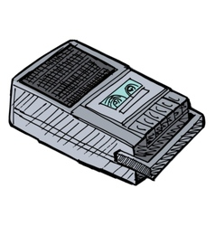 compact tape recorder vector image
