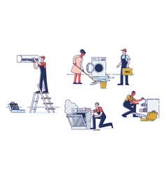 Concept of electric appliances service vector