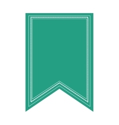 Decorative ribbon label vector