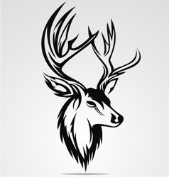 Deer Head Tribal vector