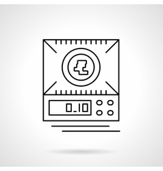 Digital scales flat thin line icon vector image