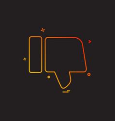 Dislike icon design vector