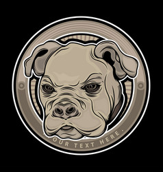 dog head animal vector image