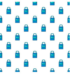 Eco bag pattern seamless vector