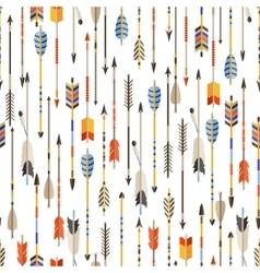 ethnic seamless pattern with indian arrows vector image