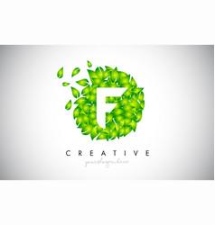 f green leaf logo design eco logo with multiple vector image