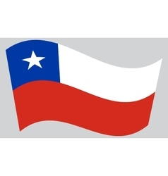 Flag of Chile waving on gray background vector image
