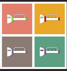 Flat icon design collection children trumpet vector