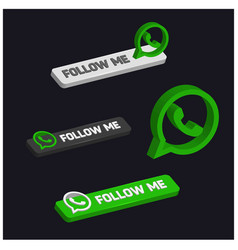 Follow me on whatsapp vector