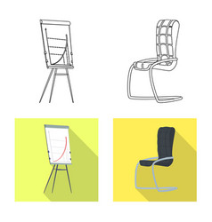 Furniture and work icon vector