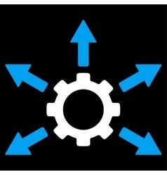 Gear Distribution Icon vector
