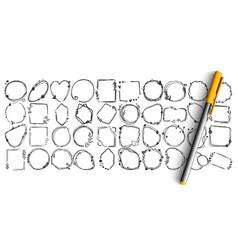 geometric figures doodle set vector image