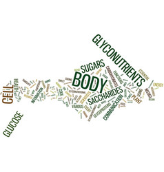 Glyconutrients new frontier in science text vector