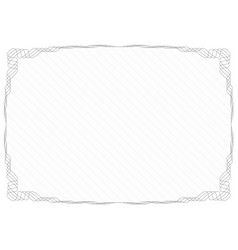 Gray frame border with security protective grid vector