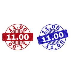 grunge 1100 textured round watermarks vector image