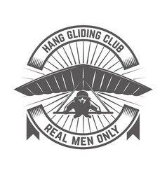 Hang gliding club emblem template design element vector