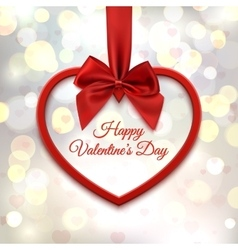 Happy Valentines day greeting card template vector