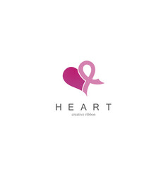heart care logo vector image