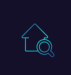 house search icon real estate logo linear style vector image