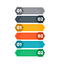 infographics elements six steps process vector image