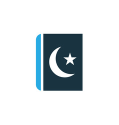 Islam book colorful icon symbol premium quality vector