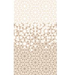 Islamic arabian mosaic repeating border vector