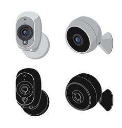 Isolated object cctv and camera icon vector