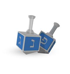 Jewish holiday of hanukkah dreidels vector