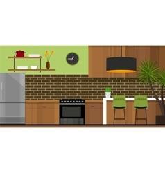 Kitchen interior furniture house vector