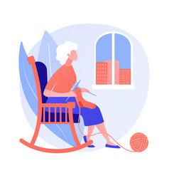Loneliness elderly people concept vector