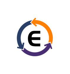 management process letter e vector image