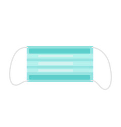 medical mask icon in flat style vector image